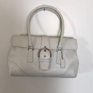 Coach Soho Hampton Satchel Bag 9550 in White